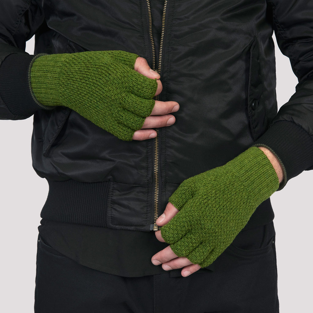 MEN'S ROLLERS FOREST GREEN FINGERLESS GLOVES