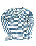RUSSIAN BLUE AND WHITE STRIPED WINTER SWEATER