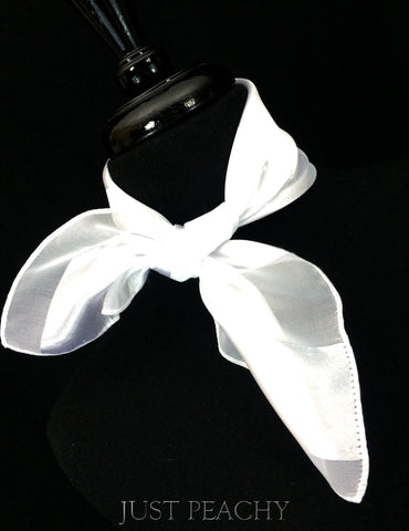 Solid Horse Show Scarf - White Stripe - Just Peachy