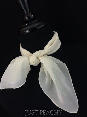Solid Horse Show Scarf - Ivory Creme - Just Peachy