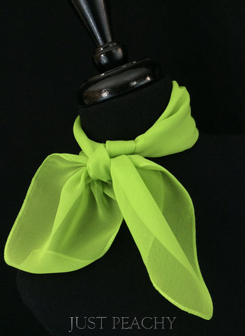 Solid Horse Show Scarf - Apple Green - Just Peachy
