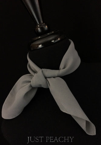 Solid Horse Show Scarf - Granite - Just Peachy