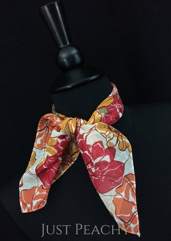 Print Horse Show Scarf #4407S - Just Peachy