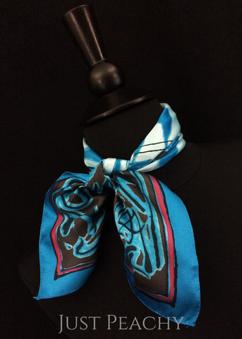 Print Western Horse Show Scarf by Just Peachy - Just Peachy Show Clothing