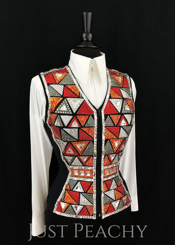 Western Horse Show Vest by Chrissy Canady Originals - Just Peachy Show Clothing