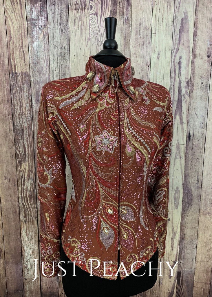 Spiced Honey And Brick Red Showmanship Outfit By Deb Moyer ~ Ladies Small/medium Western
