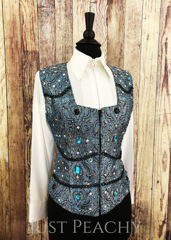 Western Horse Show Vest by Cassidy's Casuals - Just Peachy Show Clothing