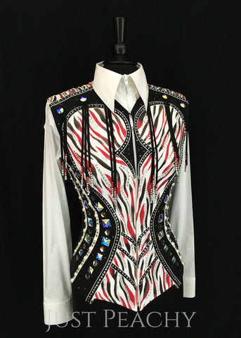 Western Horse Show Vest by Berry Fit - Just Peachy Show Clothing