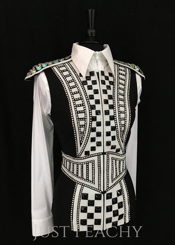 Western Horse Show Vest by On Pattern Designs - Just Peachy Show Clothing