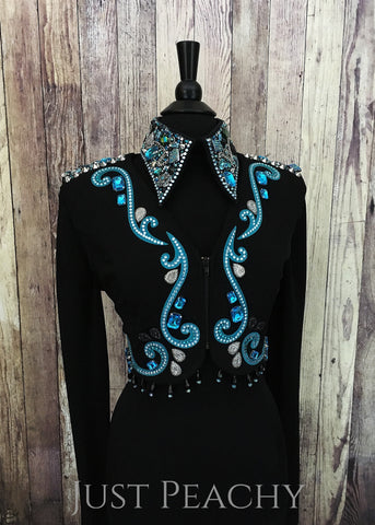 Western Horse Show Bolero Vest Set by Deb Moyer - Just Peachy Show Clothing
