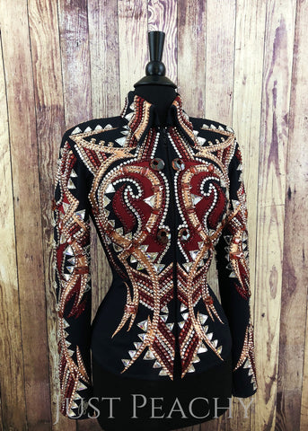 Western Horse Show Jacket by Stella Show Clothing - Just Peachy Show Clothing
