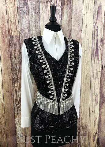 Western Horse Show Vest by KLS Designs - Just Peachy Show Clothing
