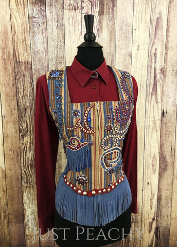Western Horse Show Outfit with Chaps by Showing Style - Just Peachy Show Clothing