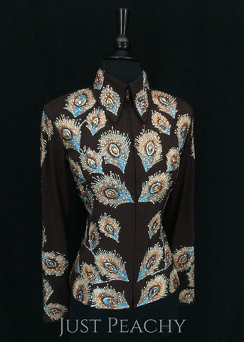Chocolate and Turquoise Jacket and Pants ~ Ladies Small - Just Peachy