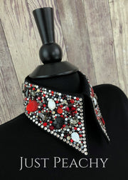 Simple Treasures Horsemanship Shirt In Jet Black With Siam Charcoal And White Opal By Deb Moyer ~
