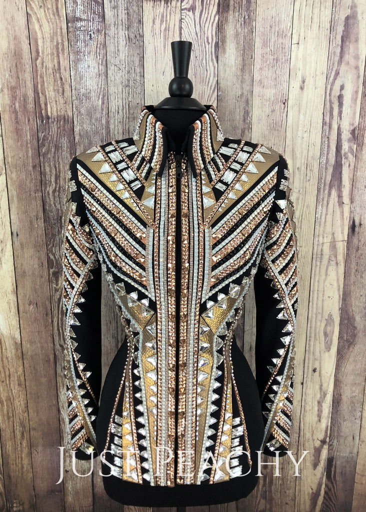 Champagne And Rose Gold Showmanship Jacket By Stella Show Clothing ~ Ladies Small Western