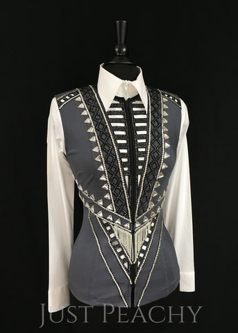 Western Horse Show Vest by Haute Couture Show Clothing - Just Peachy Show Clothing