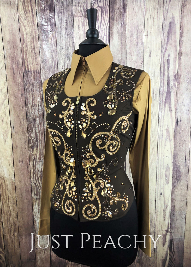 Sonder Avenue Western Horse Show Vest - Just Peachy Show Clothing
