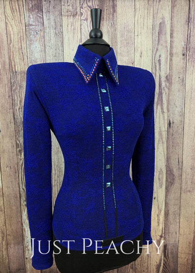 Simple Treasures Illusion Horsemanship Shirt By Deb Moyer ~ Ladies Medium Western