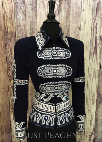 Paula's Place navy blue horse show jacket
