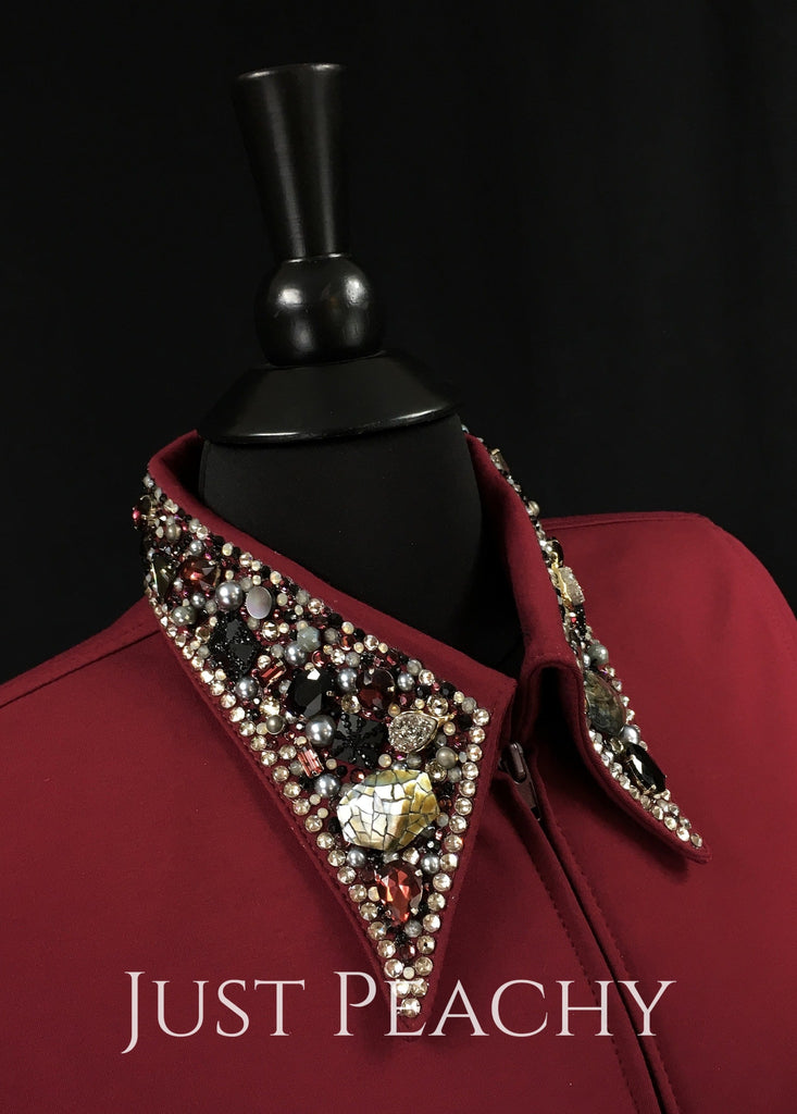 The Simply Perfect Horse Show Shirt In Merlot By Deb Moyer ~ Ladies Medium Western