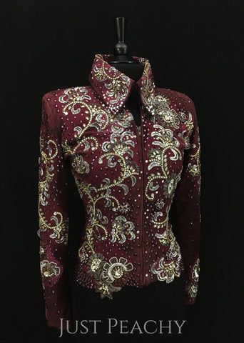 Gently used western horse show jacket by Julie Ewing