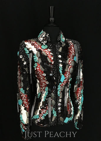 Lindsey James fringe horse show jacket