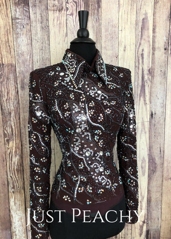 Western Horsemanship Shirt by Paula's Place - Just Peachy Show Clothing