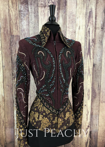 Western Showmanship Outfit by Paula's Place - Just Peachy Show Clothing