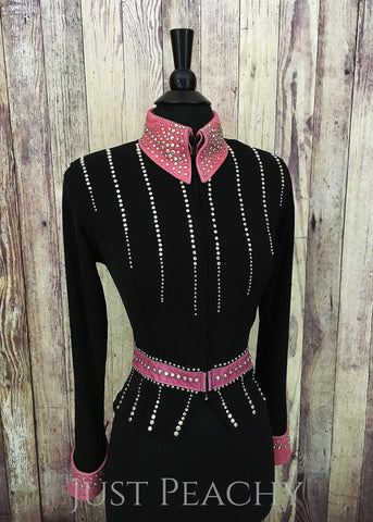 Gently used western horse show jacket by Connie's Customs