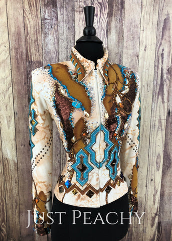 Western Horse Show Jacket by Silver Lining - Just Peachy Show Clothing