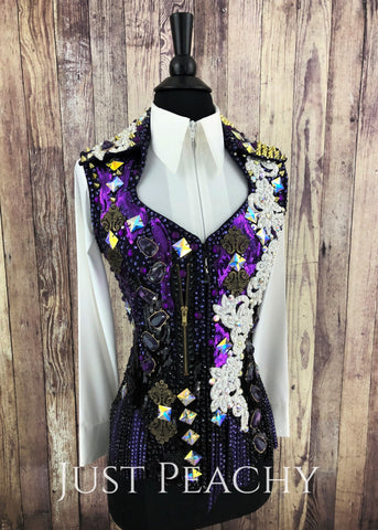 Western Horse Show Vest by Trudy Black Label - Just Peachy Show Clothing