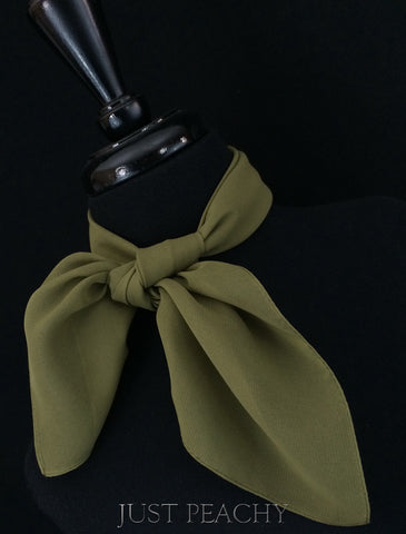 Solid Horse Show Scarf - Olive Green - Just Peachy