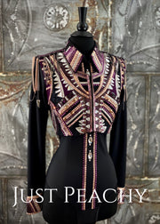 Amethyst, Rose Gold and Black Bolero Vest Set by Stella ~ Ladies XS