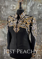 Black, Gold and White Jacket by April Salisbury ~ Ladies 1X