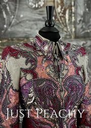 Cranberry, Slate Grey and Silver Showmanship Outfit by Paula's Place ~ Ladies XS