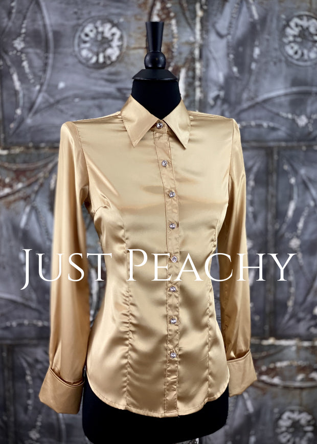 Satin Button-Up Show Shirt