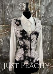 Black White And Silver Vest by Deb Moyer