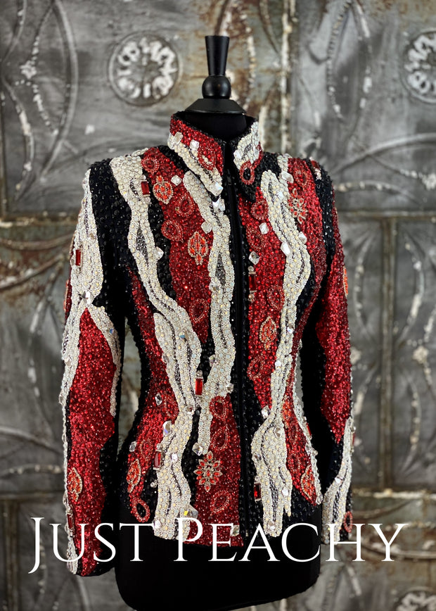 Red, White and Black Showmanship/All-Day Jacket by Trudy/Juls Collection ~ Ladies Small