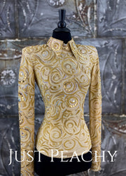 Sand And Gold Horsemanship/day Shirt By Paulas Place ~ Ladies Xs Western Showmanship Outfit