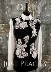 Deb Moyer Western Horse Show Vest ~ Just Peachy Show Clothing