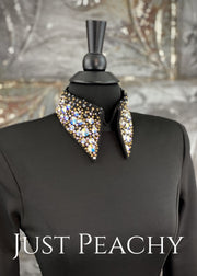 Gold Crystal Ab And Black Bolero Vest Set By Kls Designs ~ Ladies Xs Western Horse Show