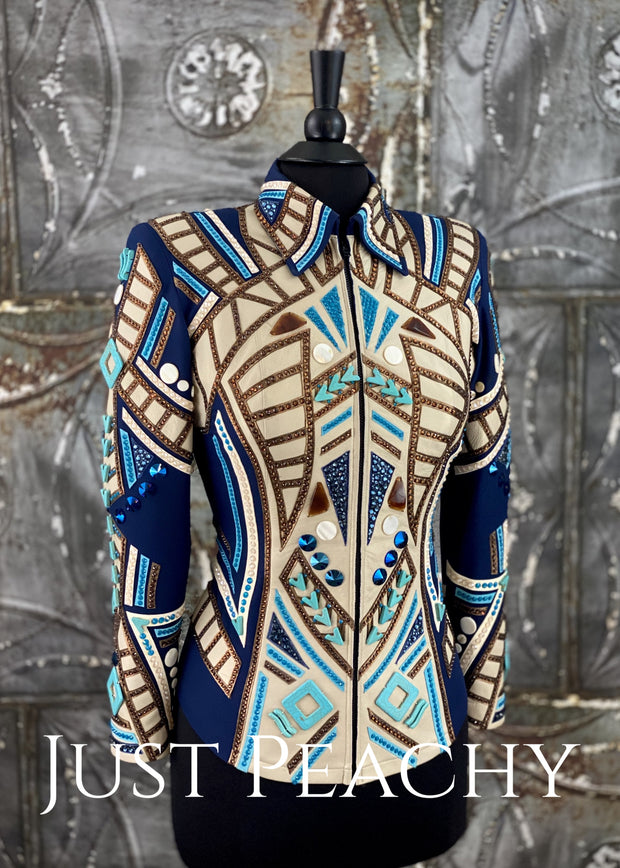 Navy Blue All-Day Jacket by On Pattern Designs ~ Just Peachy Show Clothing