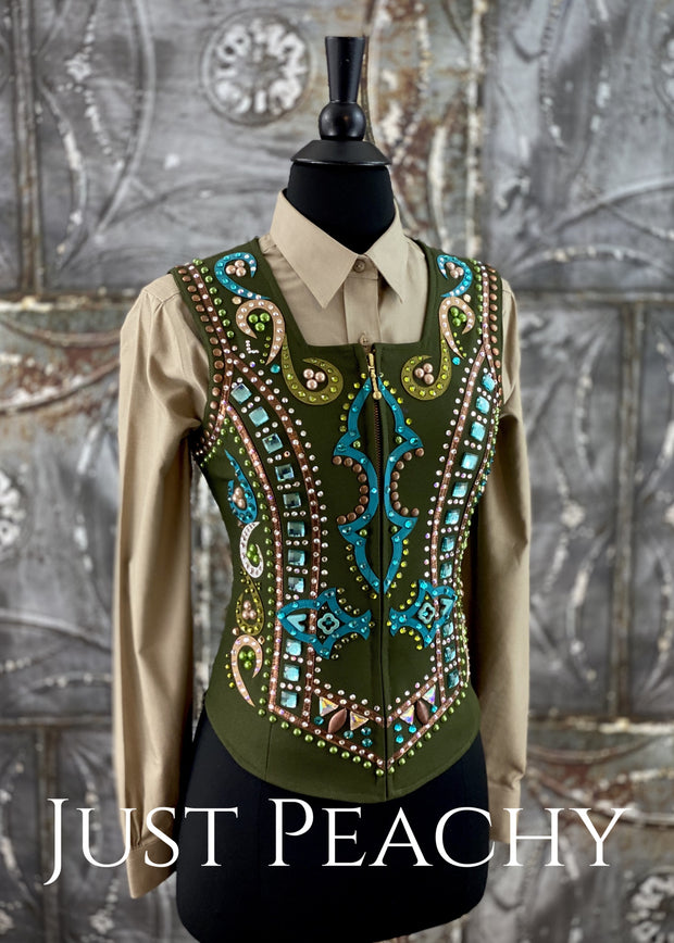 Dry Creek Designs Western Horse Show Vest Set