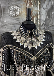 Black Grey And Cream Jacket By On Pattern Designs ~ Just Peachy Show Clothing