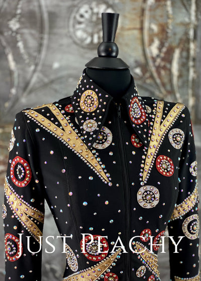 Black, Red and Gold Jacket by Showtime ~ Ladies XS