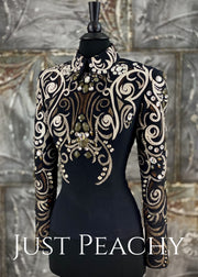 Mixed Metallics Horsemanship Shirt by On Pattern Designs ~ Just Peachy Show Clothing