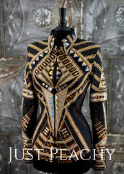 Copper, Champagne, Gold and Black Showmanship Jacket by Trudy ~ Ladies Medium