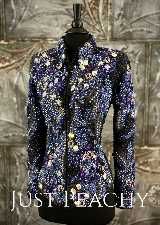 Purple, Midnight Blue and Black Jacket by The Juls Collection ~ Ladies XS