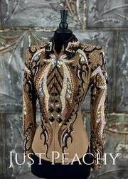 Mocha, Copper and Black Outfit with Chaps by Lindsey James ~ Ladies XS